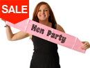 Pink Hen Night Sash