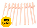 Pack of Ten Willy Straws