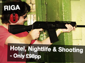 Hotel, Nightlife & Shooting only £98pp
